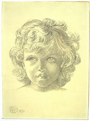 The Blessed Damozel (study for head of child–angel)