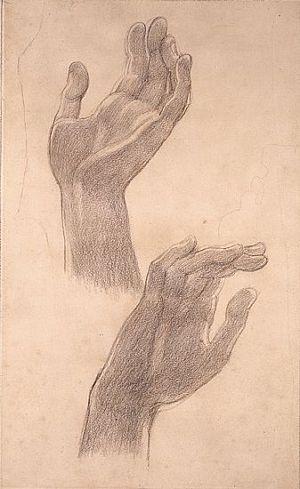 Astarte Syriaca (study of two hands)