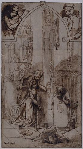 Faust: Gretchen and Mephistopheles in the Church