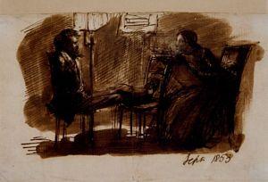 D. G. Rossetti Sitting to Elizabeth Siddal