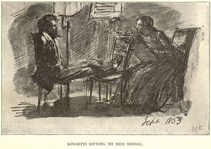 D.G. Rossetti sitting to                         Elizabeth Siddal
