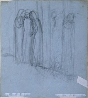 The Virgin Mary being Comforted (pencil study)