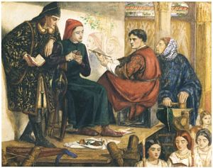 Giotto Painting the Portrait of Dante
