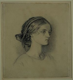Unidentified Profile of a Young Girl