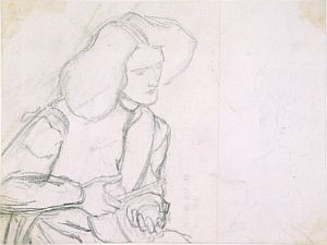 Giotto Painting the Portrait of Dante (sketch for figure of Dante): a