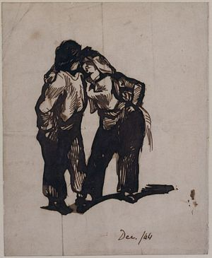 Man with a Woman Wearing Trousers