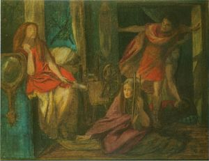 The Return of Tibullus to Delia (watercolour)