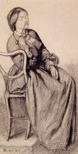 The Return of Tibullus to Delia (pencil study for Delia)