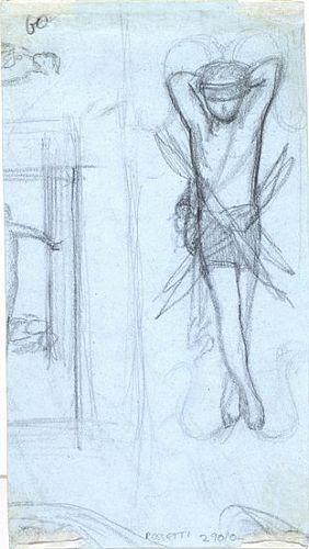 The Return of Tibullus to Delia (pencil sketch for Love)