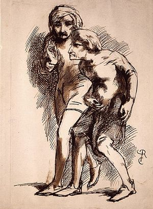 Sketch of Two Men