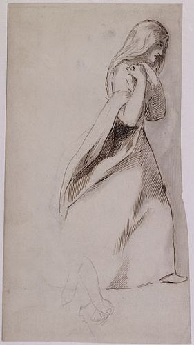 Woman Striding to the Right