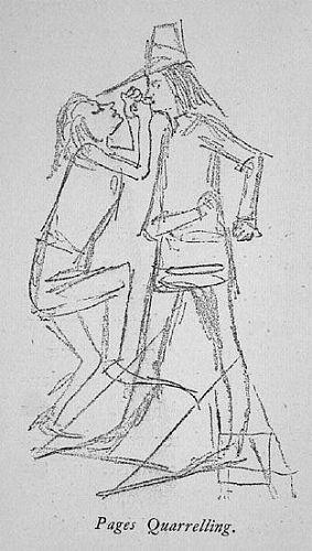 Two Pugilists and Figure Studies