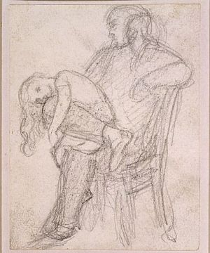 Man with Child on his Knee