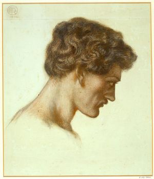 Dante's Dream at the Time of the Death of Beatrice (study for head of Dante)