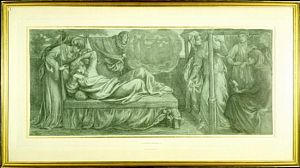 Dante's Dream at the Time of the Death of Beatrice (finished crayon study for                    Predella 1)