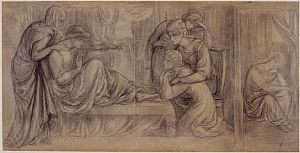 Dante's Dream at the Time of the Death of Beatrice (sketch design for