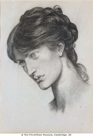 Dante's Dream at the Time of the Death of Beatrice (chalk head of attendant)