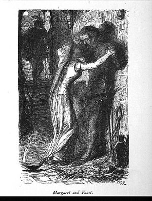 Faust: Faust and Margaret in Prison.