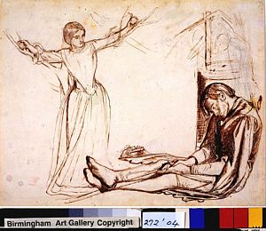 Sir Launcelot's Vision of the Sanc Grael (study for Launcelot and Guenevere)