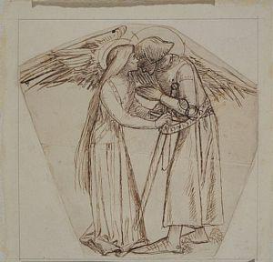 Sir Galahad and an Angel