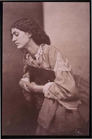 Facsimile images available for Album of Portraits of Mrs. William Morris (Jane Burden) Posed by Rossetti,