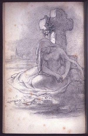 """Illustration for Christina Rossetti's """"The RuinedCross"""""""
