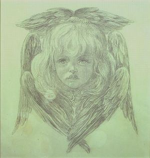 Study for the Head of a Child Angel in the Blessed Damozel