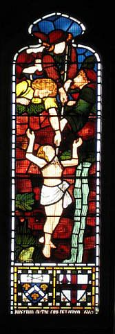 Joseph Lifted from the Pit (Stained Glass)