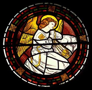 Censing Angel [1]; Stained Glass