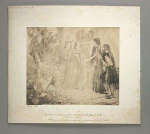 Beatrice Meeting Dante at a Marriage Feast, Denies him her Salutation [print]