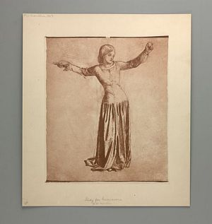 Sir Launcelot's Vision of the Sanc Grael (Study for Guenevere) [print]