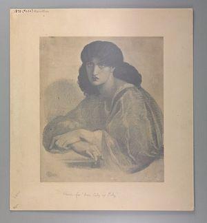 La Donna Della Finestra (finished drawing) [print]