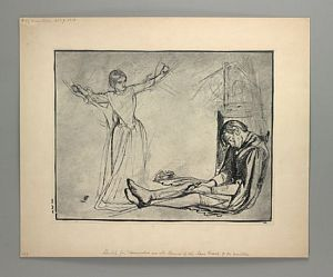 Sir Launcelot's Vision of the Sanc Grael (study for Launcelot and Guenevere) [print]
