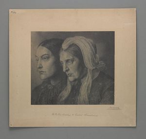 Christina Rossetti and Mrs. Gabriele Rossetti [print]