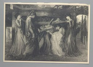 Dante 39 s dream at the time of the death of beatrice print for How much is my painting worth