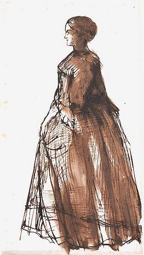 Standing Woman, Facing Left