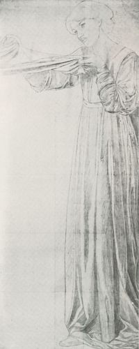 Study for a Female Attendant in Dante's Dream at the Time of the Death of Beatrice
