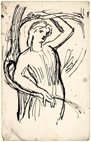 Study for A Vision of Fiammetta