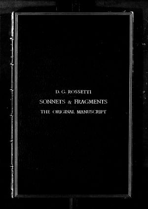 Facsimile images available for Sonnets and Fragments (Princeton/Troxell bound manuscript volume)