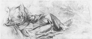 Blessed Damozel (study for predella)