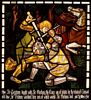Page Images Available for The Story of Tristan and Yseult: The Fight with Sir Marhaus (stained glass